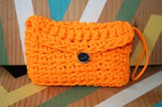 Neon Orange 550 Paracord Crotched Clutch Purse by TheTravelingTree, $20.00