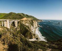 gorgeous cliffside shot of Big Sur, by Benj Haisch