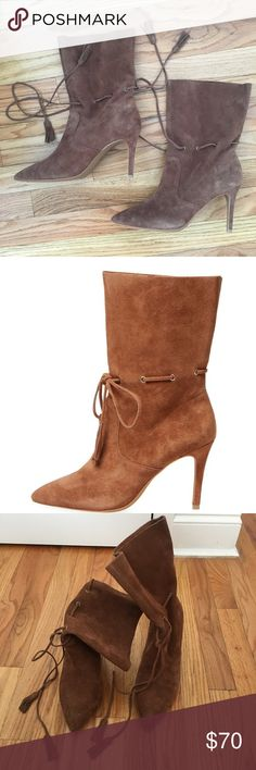 French Connection Rowdy Suede Boots Stunning suede tie boots from French Connection. Brand new and never worn 👢 French Connection Shoes Ankle Boots & Booties