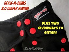 Rock-a-Bums 2.0 Cloth Diaper Review plus TWO Giveaways!  Closes 03/25/14