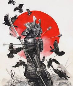 Jan 2020 - Unstoppable Samurai Warrior Art Print by Rodolfo Migliari - X-Small Japanese Warrior Tattoo, Japanese Tattoo Art, Japanese Tattoo Designs, Japanese Sleeve Tattoos, Henna Tattoo Designs, Samurai Tattoo, Samurai Drawing, Samurai Artwork, Ronin Tattoo