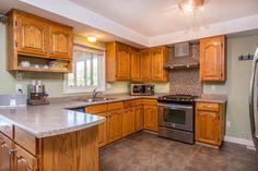 Remodelled kitchen, tiled floors