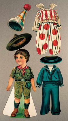 """View Catalog Item - Theriault's Antique Doll Auctions Lot: 249. American Paper Doll """"Tommy Tom"""" by Hubbell-Leavens"""