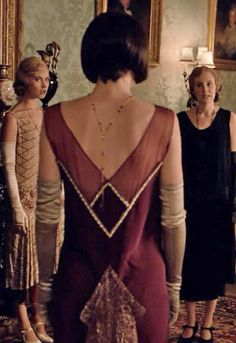 Stunning back on Mary's Art Deco inspired dress