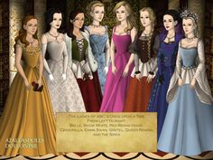 """The heroines of ABC's """"Once Upon A Time"""". <<<<that's a game on doll divine Cosplay Costumes, Halloween Costumes, Funny P, The Dark One, Doll Divine, Buffy The Vampire, Captain Swan, Red Riding Hood, The Last Airbender"""