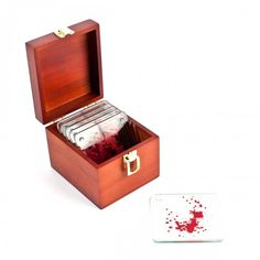 y'all should know, I am still obsessed with Dexter -- and think I always will be... I need memorabilia!  Dexter Blood Slide Coasters | Official Showtime Store