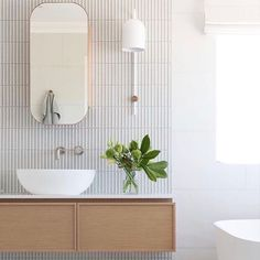 Bathroom Inspiration 💧 Modern but Timeless. ⠀ ⠀ Texture can be an incredible way to bring interest to your bathroom, and avoid a 'sterile' feel when working with a white colour palette! ⠀ ⠀ 📸 Bathroom Design by Models Without Makeup, City Bathrooms, Russell House, Family Bathroom, Bathroom Interior, Tiles, New Homes, Bathtub, Pure Products