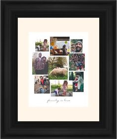 Gallery Collage of Nine Framed Print, Black, Classic, White, Cream, Single piece, 8 x 10 inches