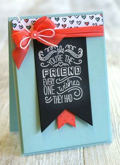 Stampin up friendly wishes