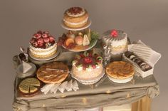 "Dessert Display by Lori Ann Potts $364.00 This was hand made in Canada,4 1/8""long"