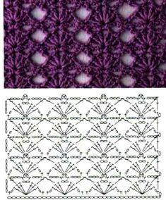 Best 12 Crochet Shawl Vintage Yarns 39 Ideas For 2019 – SkillOfKing. Crochet Stitches Chart, Crochet Stitches For Beginners, Crochet Motifs, Crochet Diagram, Crochet Squares, Crochet Shawl, Art Au Crochet, Crochet Crafts, Crochet Projects