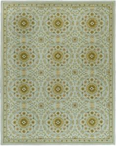Safavieh Chelsea collection teal rug    Pretty - it reminds me of antique tile or mosaic floor