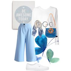 be awesome with a touch of blue by adikrisnadee on Polyvore featuring polyvore fashion style T By Alexander Wang Chicwish Vans Nicole Lee Humble Chic Mykita
