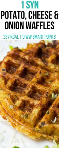 1 Syn Potato, Cheese and Onion Waffles   Pinch Of Nom Slimming World Recipes 237 kcal   1 Syn   9 Weight Watchers Smart Points