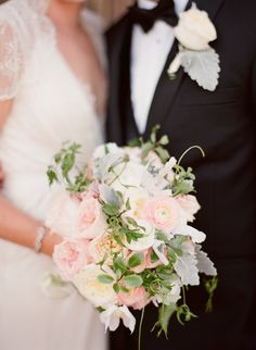 Very Romantic Bouquet! Photography: Michael & Anna Costa | Kelly Kaufman Floral Designs | See the wedding on SMP: http://www.StyleMePretty.com/2013/01/17/santa-ynez-california-wedding-from-joy-de-vivre/