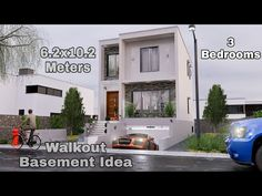 Small Modern House Plans, Modern House Design, Walkout Basement, How To Plan, Bedroom, Simple, Building, Youtube, Root Cellar