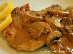 Easy pork chops with Mushroom Gravy
