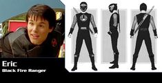 Power Rangers Ninja Storm Eric McKnight as Black Ninja Storm Ranger Power Rangers Ninja Storm, Kamen Rider, Planes, Ss, Hero, Fictional Characters, Black, Mascaras, Airplanes