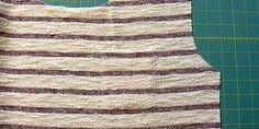 Streifenshirt mit Tasche nähen Shirts, Home Decor, Striped Fabrics, Bags Sewing, Sewing Patterns, Decoration Home, Room Decor, Dress Shirts, Home Interior Design