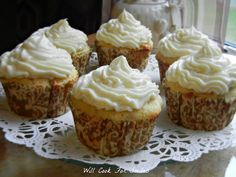 Pina Colada Rum Cupcakes - Will Cook For Smiles