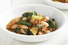 Greek bean and silverbeet stew.