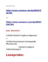 eBook Knaller: Woerterbuch Englisch-Allgemein + Technisches Woerterbuch Mechatronik / Elektronik / EDV (Neuerscheinung 2013 )