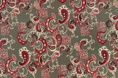Paisley Fab by Adesal Jacquards is shown here in Fog, a classic gold/black/grey color combination.