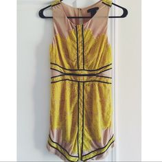 TOP TREND PARTY HP Caribbean Queen Mini Dress Yellow Lace| Black Leather| Flesh Colored| mini dress with lace and leather details! Fun and feminine. This is the perfect dress for a wedding guest. Pair with sandals and a jeweled clutch. Caribbean Queen Dresses Mini