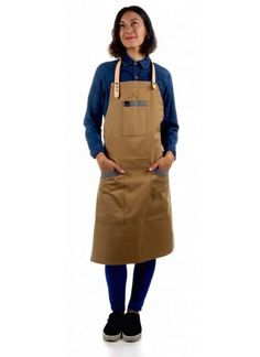 Bartender Uniform and chef apron with leather straps Bartender Uniform, Havana Nights, Chef Apron, Rooftop, Turquoise, Denim, Leather, How To Wear, Blue