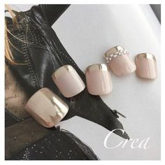 Having short nails is extremely practical. The problem is so many nail art and manicure designs that you'll find online Feet Nail Design, Toe Nail Designs, Pretty Toe Nails, Love Nails, Uñas Fashion, Summer Toe Nails, Manicure Y Pedicure, Fall Pedicure, Feet Nails