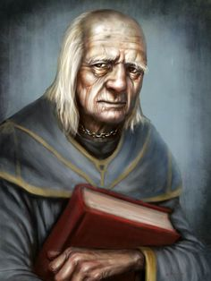 """Maester Luwin """"The years pass in their hundreds and their thousands, and what does any man see of life but a few summers, a few winters?"""" A maester in the service of House Stark at Winterfell. Warhammer Fantasy, Fantasy Rpg, Medieval Fantasy, Dnd Characters, Fantasy Characters, Historical Fiction Books For Kids, Maester Luwin, Stark Children, Hbo Got"""