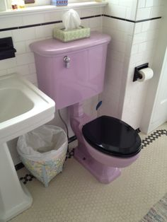 Awesome Lavender Toilet. Itu0027s Just A Shame They Lost The Matching Seat. Iu0027