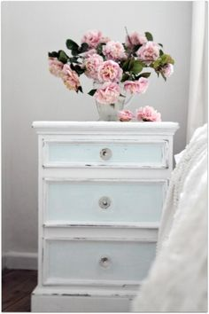 Shabby Chic Bedroom  Love that pale color