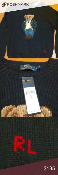 NWT polo bear sweater 265 msrp Brand new limited edition polo sweater Polo by Ralph Lauren Sweaters