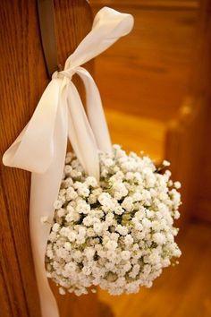 Baby Breath Wedding Decorations church / http://www.himisspuff.com/rustic-babys-breath-wedding-ideas/11/