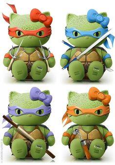 Hello Ninja Turtle Kitties