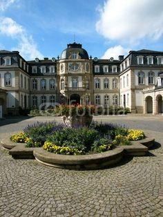 Der Innenhof des Büsing Palais in Offenbach am Main