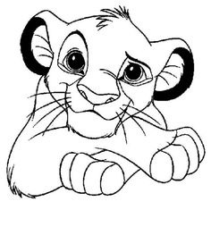 Trendy Tattoo Disney Simba Coloring Pages Online Coloring Pages, Disney Coloring Pages, Animal Coloring Pages, Simba Bebe, Art Roi Lion, Images Roi Lion, Roi Lion Simba, Bugs Bunny Drawing, Lion King Drawings