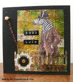 Card with Alcohol inks, made by Alie Hoogenboezem-de Vries