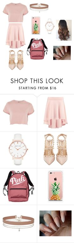 """""""pink"""" by caitlinkansil on Polyvore featuring Topshop, Boohoo, Abbott Lyon, Valentino, Victoria's Secret, The Casery and Miss Selfridge"""