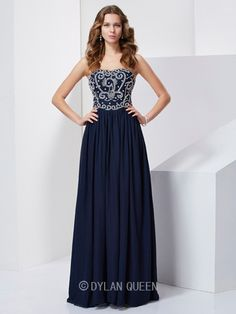 New Beading Sweetheart Long Stapless Prom Gown