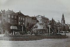 Oude Vismarkt met fontein, Groningen