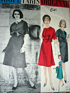 Vintage VOGUE Paris Original Pattern 1115 Gres by anne8865, $84.00