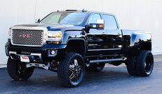 Lifted GMC Dually Woah this thing is awesome! Not my wheel choice but still awesome Chevy Diesel Trucks, Dually Trucks, Lifted Chevy Trucks, Gm Trucks, Cool Trucks, Pickup Trucks, Powerstroke Diesel, Dually Rims, Truck Memes