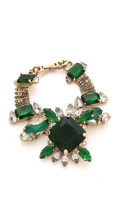 EMERALD LOVE- Noir Jewelry Gem Bracelet