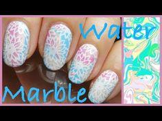water marble stamping nail