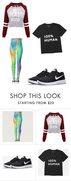 """""""Me every day"""" by mackenzieschellenberg ❤ liked on Polyvore featuring Disney, WithChic and NIKE"""