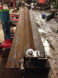 Homemade sheet metal bender