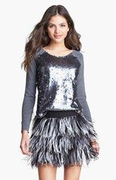 Milly Ostrich Feather Miniskirt #greatgatsby #flapperfashion #fashion #MadeinUSA