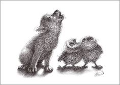 Stefan Kahlhammer - heulender Wolf trifft heulende Eulen